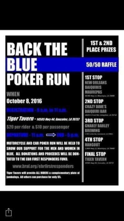 Back the Blue Poker Run