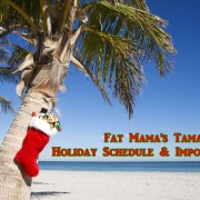 graphic of 2015 Fat Mama's Tamales Holiday schedule Adopt a Shutter graphic | Fat Mama's Tamales order online Natchez, MS