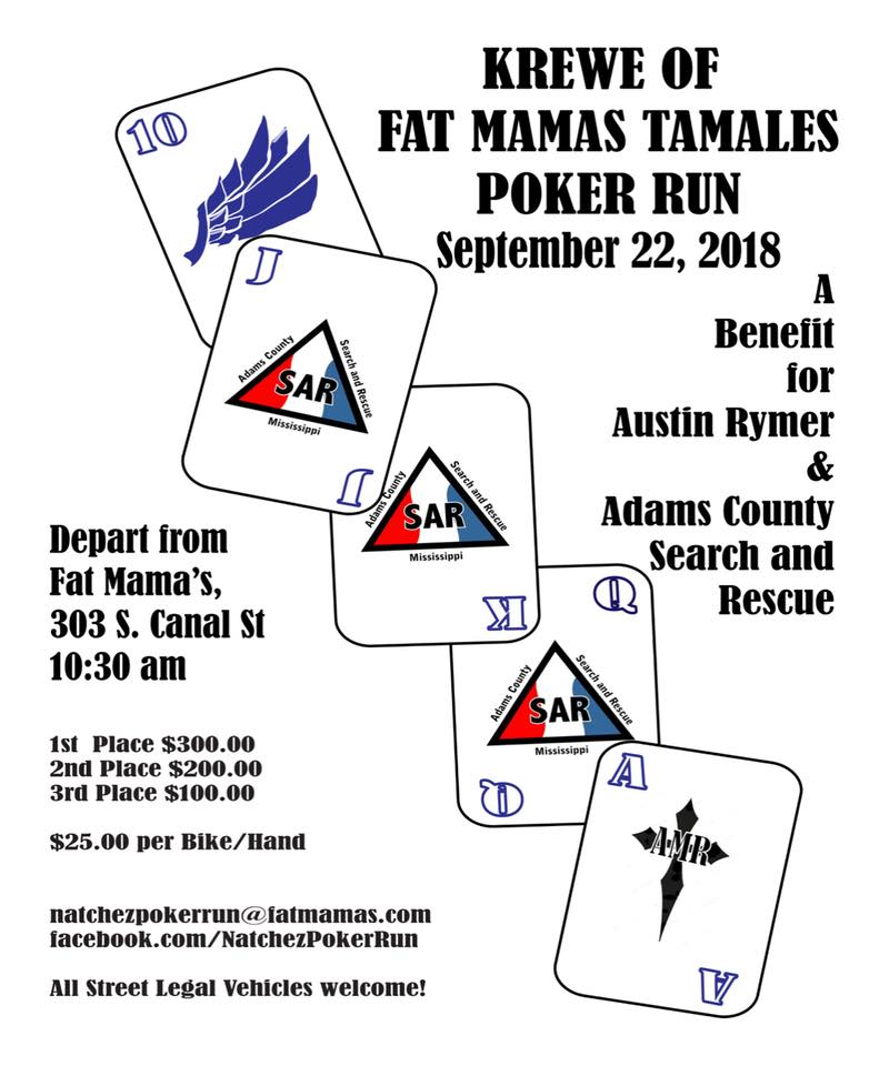 Krewe of Fat Mama's Natchez Poker Run | Fat Mama's Tamales