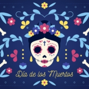 Day of the Dead party ideasgraphic with flowers, skulls, bones   Fat Mama's Tamales