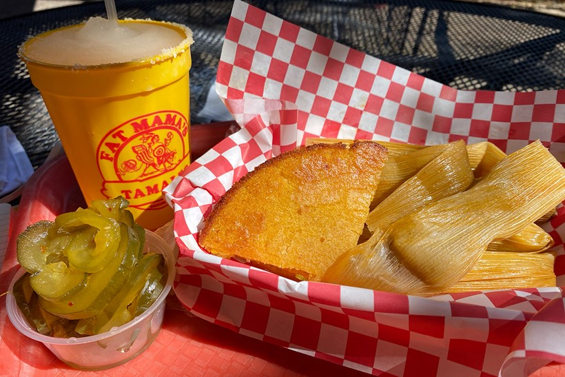 Margarita, tamales and fire and ice pickles | Fat Mamas Tamales