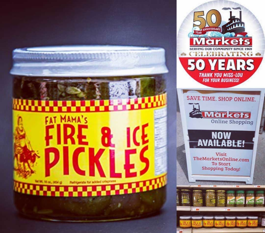 Fire and Ice Pickles at great markets | Fat Mama's Tamales | Natchez MS