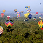 hot air balloons flying   Great Mississippi River Balloon Race   Fat Mama's Tamales order online Natchez, MS