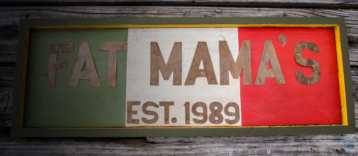 Fat Mama's sign | Fat Mama's Tamales order online Natchez, MS